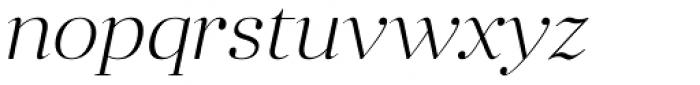 Anglecia Pro Display Extra Light Italic Font LOWERCASE