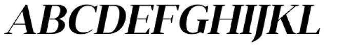 Anglecia Pro Display Semi Bold Italic Font UPPERCASE