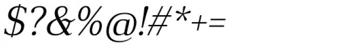Anglecia Pro Text Light Italic Font OTHER CHARS