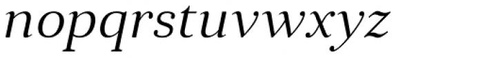 Anglecia Pro Text Light Italic Font LOWERCASE