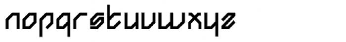 Angol Sharp Black Font LOWERCASE
