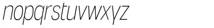 Angostura ExtraLight Italic Font LOWERCASE