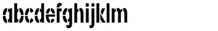 Angostura Stencil Font LOWERCASE