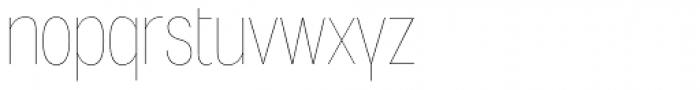Angostura UltraLight Font LOWERCASE