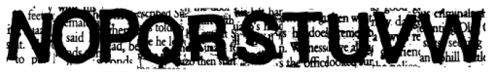 Angry Font UPPERCASE