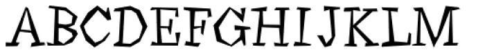 Angulatte Light Font UPPERCASE