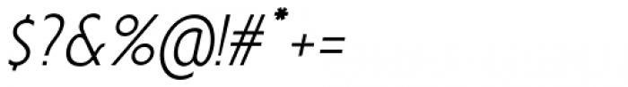 Anicon Sans Light Italic Font OTHER CHARS