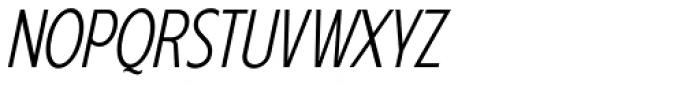 Anicon Sans Light Italic Font UPPERCASE