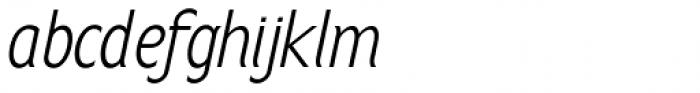 Anicon Sans Light Italic Font LOWERCASE