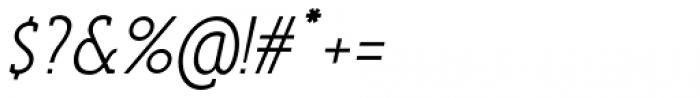 Anicon Slab Light Italic Font OTHER CHARS