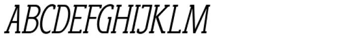 Anicon Slab Light Italic Font UPPERCASE
