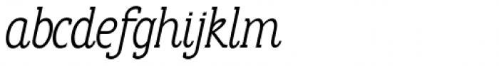Anicon Slab Light Italic Font LOWERCASE