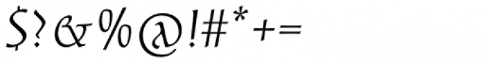 Aniene Vecchia Regular Font OTHER CHARS