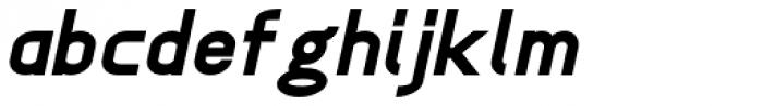 Anikka Sans ExtraBold Italic Font LOWERCASE