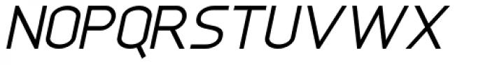 Anikka Sans Italic Font UPPERCASE