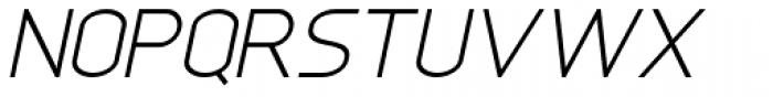 Anikka Sans Light Italic Font UPPERCASE