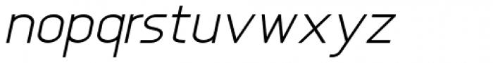 Anikka Sans Light Italic Font LOWERCASE