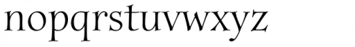 Anima Std Font LOWERCASE