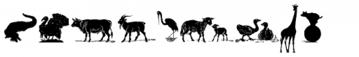 Animal Silhouettes Font UPPERCASE