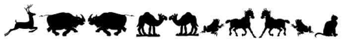 Animal Silhouettes Font LOWERCASE
