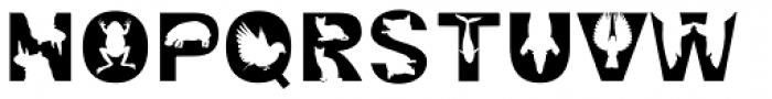 Animal Zoo Font UPPERCASE