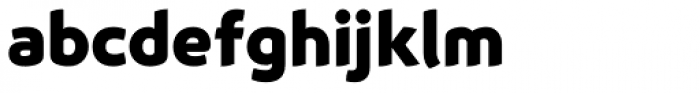 Animo Black Font LOWERCASE