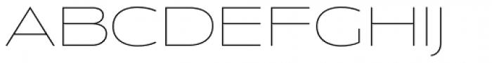 Anisette Std Thin Font UPPERCASE