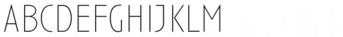 Anisette Std Thin Font LOWERCASE