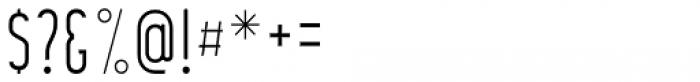 Anisha Thin Font OTHER CHARS