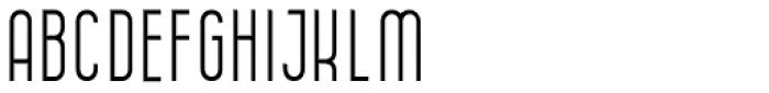 Anisha Thin Font UPPERCASE