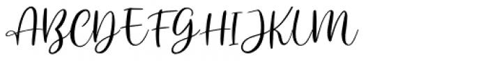 Anjani Script Regular Font UPPERCASE
