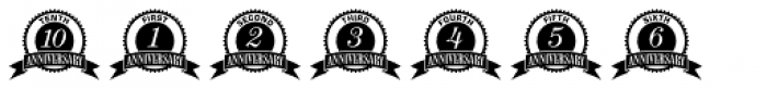 Anniversary Seals Font OTHER CHARS