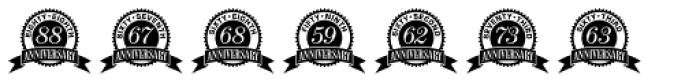 Anniversary Seals Font UPPERCASE