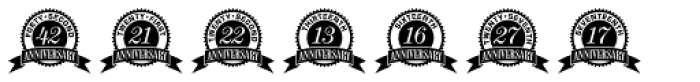 Anniversary Seals Font LOWERCASE