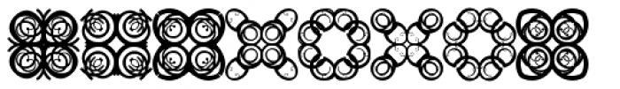 Anns Crosses Five Font UPPERCASE