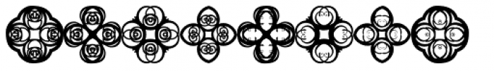 Anns Crosses Five Font LOWERCASE