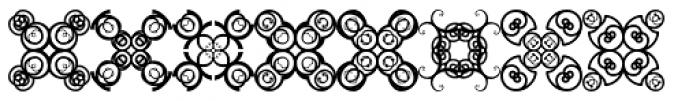 Anns Crosses Four Font UPPERCASE
