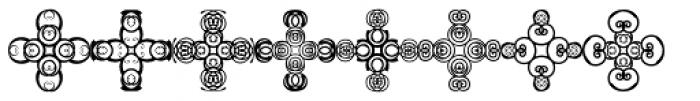 Anns Crosses Four Font LOWERCASE
