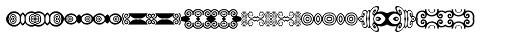 Anns Decorative Bands Horizontal Font UPPERCASE
