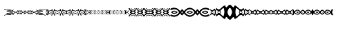 Anns Decorative Bands Horizontal Font LOWERCASE