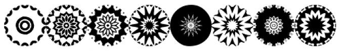 Anns Florascopes Five Font UPPERCASE