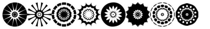 Anns Florascopes Five Font LOWERCASE