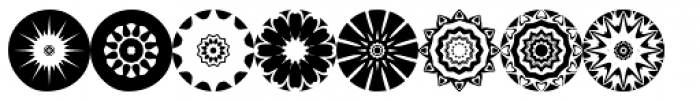 Anns Florascopes Four Font UPPERCASE