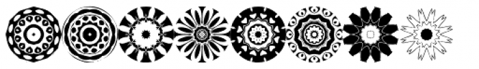 Anns Florascopes Four Font LOWERCASE