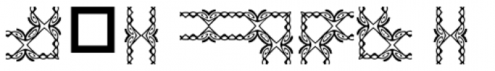 Anns Gingerbread Borders Two Font OTHER CHARS