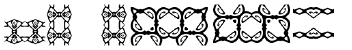Anns Gingerbread Borders Two Font UPPERCASE