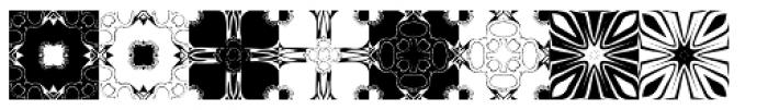 Anns Kaleidoblocks Five Font LOWERCASE