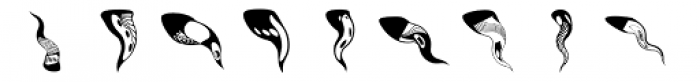 Anns SquiggleWaves Font UPPERCASE