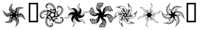 Anns Whirligig Five Font OTHER CHARS