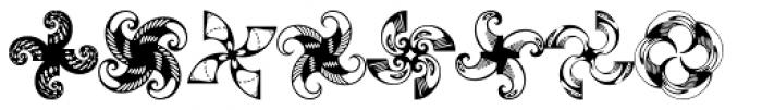 Anns Whirligig Four Font UPPERCASE
